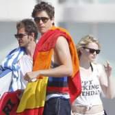 Happy birthday!: Эмма Стоун и Эндрю Гарфилд на пляже