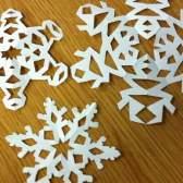 Изготовление снежинок из бумаги: рукодельная зима