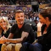 Kiss Me: Дэвид и Виктория Бекхэм на игре Lakers
