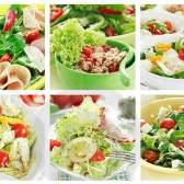 Рецепты салатов: из курицы с ананасами, из баклажанов с помидорами, с грибами и сыром, с фасолью, из консервированных кальмаров.